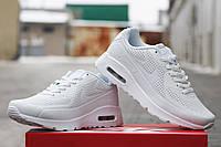 Мужские кроссовки Nike Air Max 90 Ultra Moire, пресс кожа, белые / кроссовки мужские Найк Аир Макс Ультра Муар