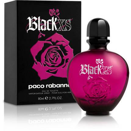 Paco Rabanne Black XS Pour Femme туалетная вода 80 ml. (Пако Рабан Блэк ИксЭс Пур Фем), фото 2