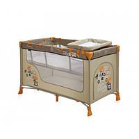 Манеж кровать со вторым уровнем и пеленатором 4210 beige