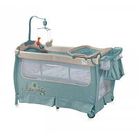 """Манеж кровать со вторым уровнем и пеленатором """"Sleep"""" blue 7321"""