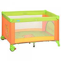 Манеж кровать на колесиках со змейкой и ручками 63061