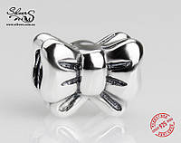 """Серебряная подвеска-шарм Пандора (Pandora) """"Бант"""" для браслета"""
