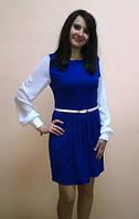 Ультра модное платье из шифона и дайвинга