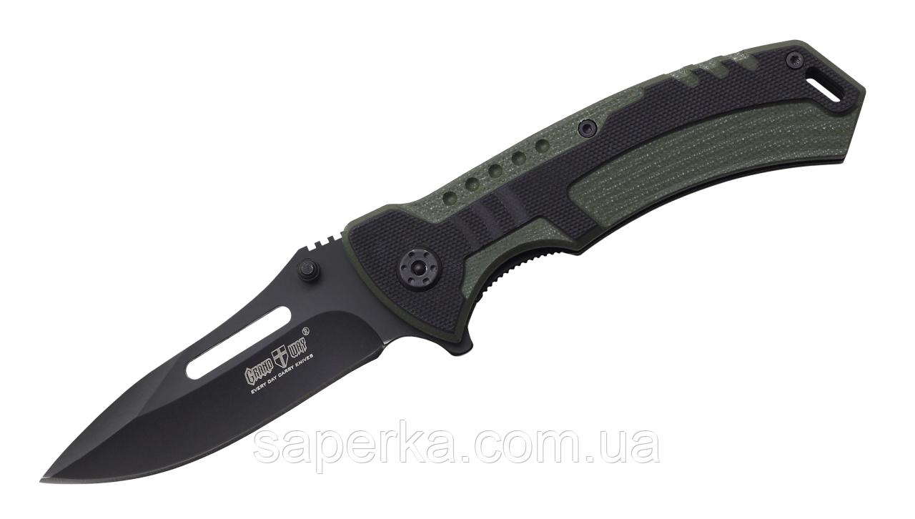 Нож с отверстием для темляка многоцелевой Grand Way 01804