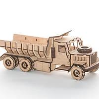 """Развивающий деревянный конструктор 3D пазл """"Краз Самосвал"""" (оригинальная сборная объемная модель из дерева)"""
