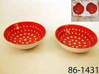 Набор из 2 блюдец керамических Горох диаметр 10 см 86-1431