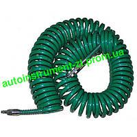 Шланг спиральн. для пневмоинстр-та 8*12мм*10м с переходниками (V-81210Р)