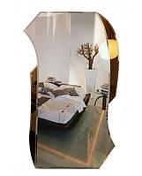 Фигурное зеркало с цветной подложкой (размер 97х57 см)