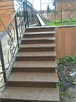 Ступени и лестницы из натурального камня Коричневый, 30мм