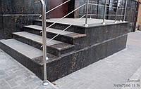 Ступени и лестницы из натурального камня Черный, 30мм