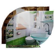 Зеркало для ванной «Капля» с подложкой и полочкой (55х69 см)