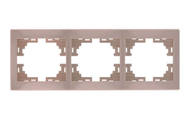 Lezard MIRA Рамка 3-ая горизонтальная б/вст крем