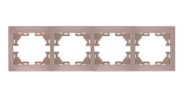 Lezard MIRA Рамка 4-ая горизонтальная б/вст крем