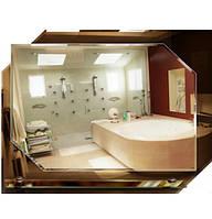 Зеркало оригинальное формы с подложкой, размер 58х75 см