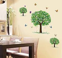 Интерьерная наклейка на стену Цветущие деревья