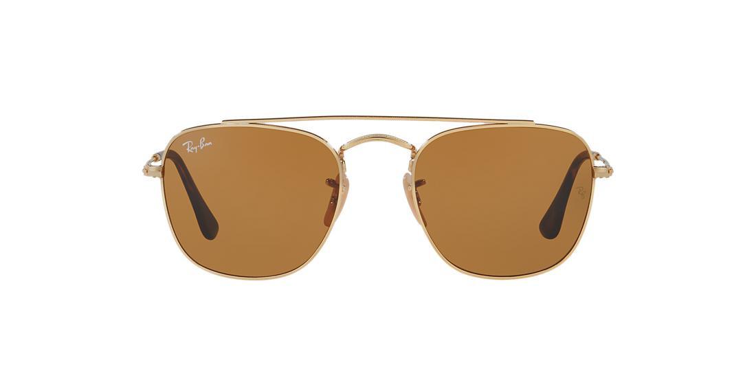 Солнцезащитные очки Ray-Ban SQUARE GOLD/BROWN RB3557
