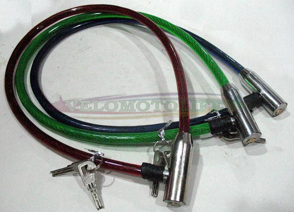 Велозамок металл Ø12mm-650mm, фото 2