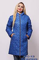 Удлинённая женская куртка весна-осень.