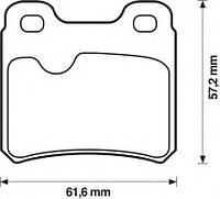 Колодки тормозные дисковые комплект Brp LP586