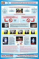 Стенд по охране труда «Безопасность в аккумуляторных»