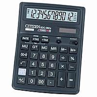 Калькулятор CITIZEN SDC-382II(батареяю, фотоэлемент), настол.12-разр.192*143мм