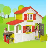 Двухетажный домик Smoby Duplex 320023 с кухней-барбекю и звонком