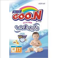 Подгузники GOO.N для детей 6-11 кг размер M, на липучках, унисекс, 17 шт (753753)