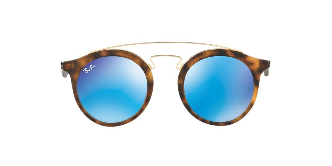 Солнцезащитные очки Ray-Ban GATSBY TORTOISE MATTE / BLUE  RB4256