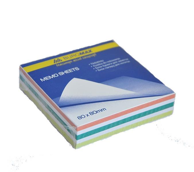 Блок бумаги для заметок Buromax Зебра Jobmax 80х80х20 мм  не склеенный BM.2255 - Канцбюро в Киеве