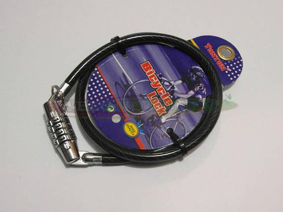 Велозамок кодовый 417 8mm-650mm, фото 2