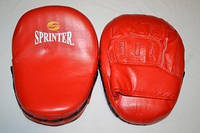 """Лапа боксёрская """"Sprinter"""". Гнутая (кожа)"""