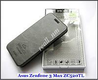 Оригинальный чехол книжка Asus Zenfone 3 Max ZC520TL X008D, чехол MOFI Vintage Classical  темный серый, фото 1