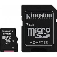 Карта памяти Kingston microSDCХ 64GB Class 10 + SD адаптер SDCX10/64GB