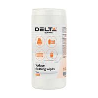 Салфетки для оргтехники Delta by Axent влажные 100 шт. D5301