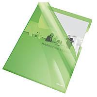 Папки-уголки глянцевые цветные A4, 150 мик Esselte зеленые 25 шт. 55436