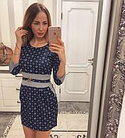 Короткое платье с украшением