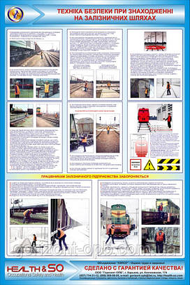 Стенд по охране труда «Безопасность при нахождении на железнодорожных путях»