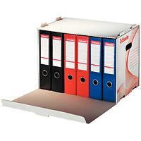 Архивный контейнер для регистраторов Esselte открываемый спереди белый 10964