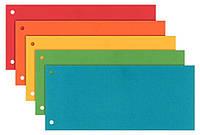 Картонные закладки Esselte ассорти 5 цв по 20 шт 100 шт. 624450