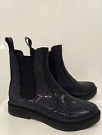 Демисезонные женские ботинк- челси,кожа