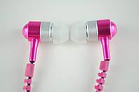 Наушники вакуумные проводные розовые Змейка + Microphone NEW в коробке*