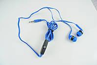 Наушники вакуумные M2 с микрофоном голубые