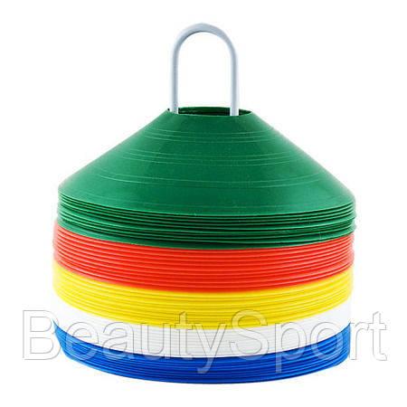 Фишка футбольная для пола малая круглая, :Цвет: зеленый - BeautySport в Харькове
