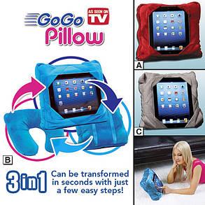 Подушка-подставка Гоу Гоу Пиллоу(Go Go Pillow) — для планшета и для сна, фото 2