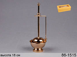 Фильтр-заварник для чая металлический высота 18 см 86-1515