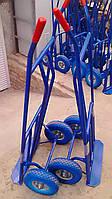 Тележка Е260 ручная c откидной платформой на ПЕНОПОЛИУРЕТАНОВЫХ колесах с металлич. диском ø260 мм, г/п 150 кг