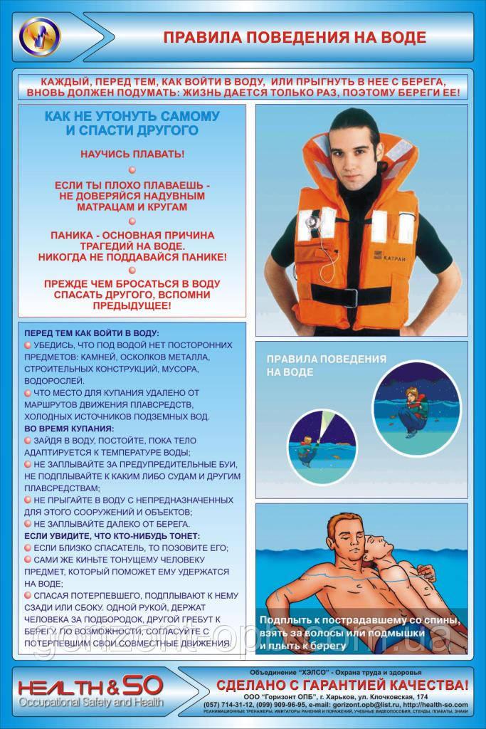Стенд «Правила поведения на воде»