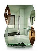 Зеркало влагостойкое с полкой (размер 80х60 см, цветная подложка), фото 1