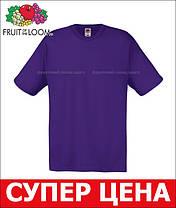 Мужская Футболка Лёгкая Fruit of the loom Фиолетовый 61-082-Pe Xxl, фото 3