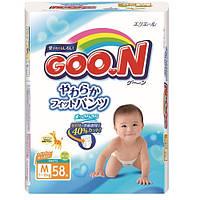 Трусики-подгузники GOO.N для детей 7-12 кг размер M, унисекс, 58 шт (753711)